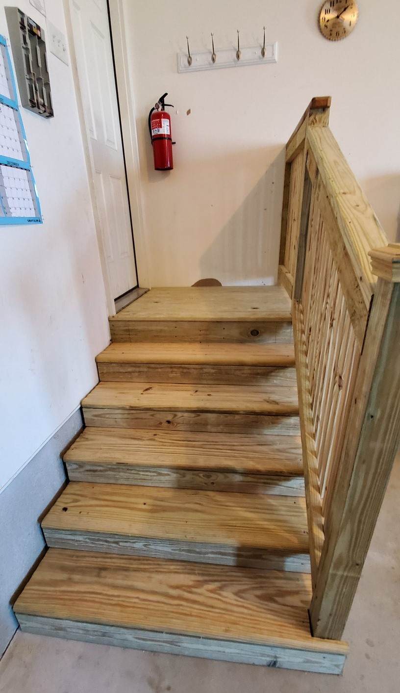 stairs replacement after